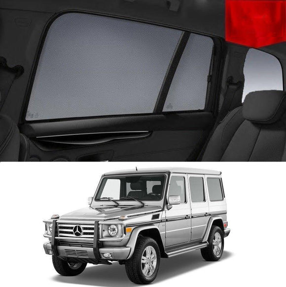 MERCEDES-BENZ G-Class 2011-2018   Car Shades | Snap On Magnetic Sun Shades Window Blind