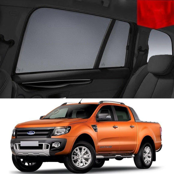 FORD Ranger 2011-2015   Car Shades | Snap On Magnetic Sun Shades Window Blind