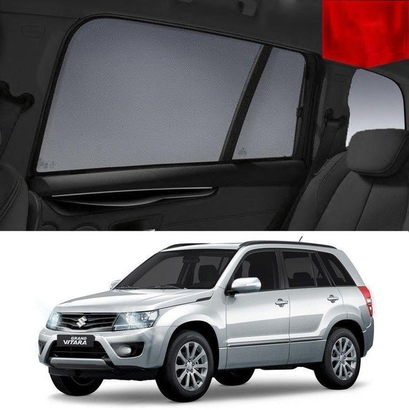 SUZUKI Grand Vitara 2014-2019   Car Shades | Snap On Magnetic Sun Shades Window Blind