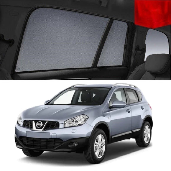 Nissan Dualis 2010-2013 J10   Car Shades | Snap On Magnetic Sun Shades Window Blind