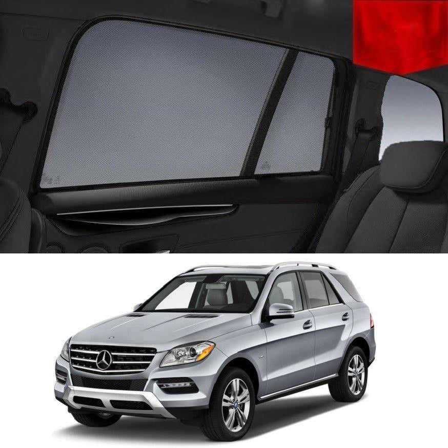 For MERCEDES-BENZ ML-Class 2011-2015 Rear Side Car Window Sun Blind Sun Shade Mesh