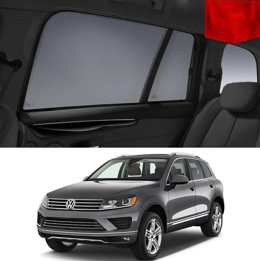 For Volkswagen 2015-2018 Touareg Magnetic Rear Car Window Sun Blind Sun Shade Mesh