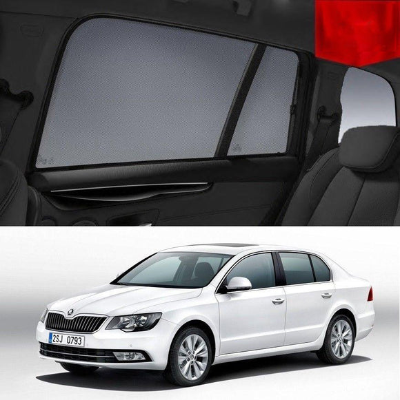 SKODA SUPERB Sedan 2009-2015   Car Shades | Snap On Magnetic Sun Shades Window Blind