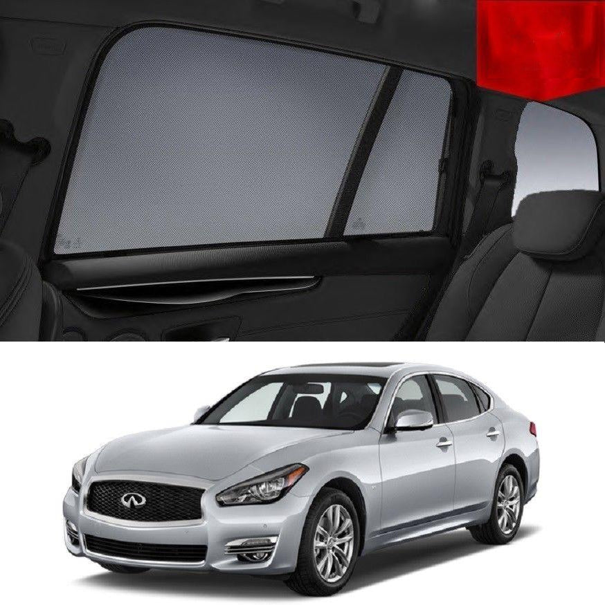 For INFINITI Q70 2014-2019 Rear Side Car Window Sun Blind Sun Shade For baby Mesh