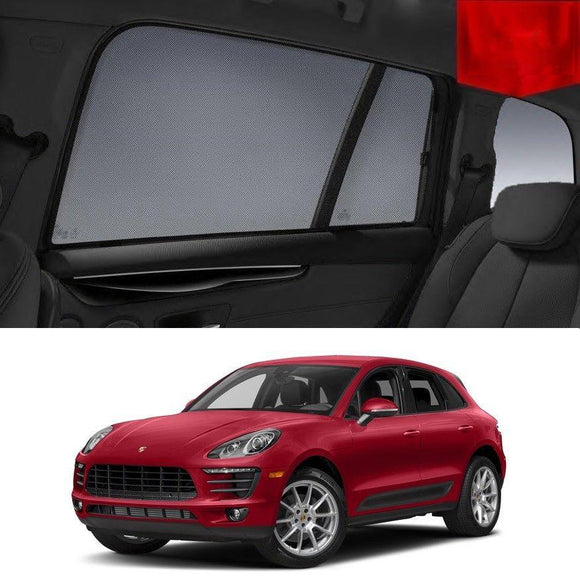 Porsche Macan 2014-2019 95B   Car Shades | Snap On Magnetic Sun Shades Window Blind