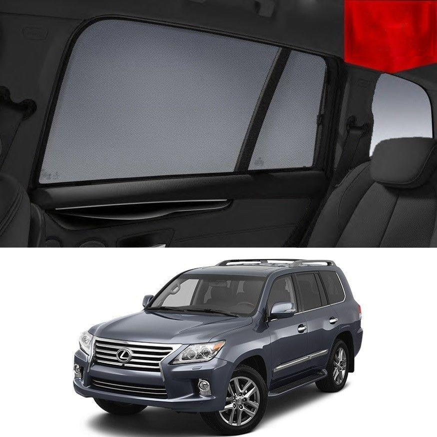 For LEXUS 2012-2015 LX570 SUV Rear Side Car Window Sun Shade Sun Blind For Baby Mesh