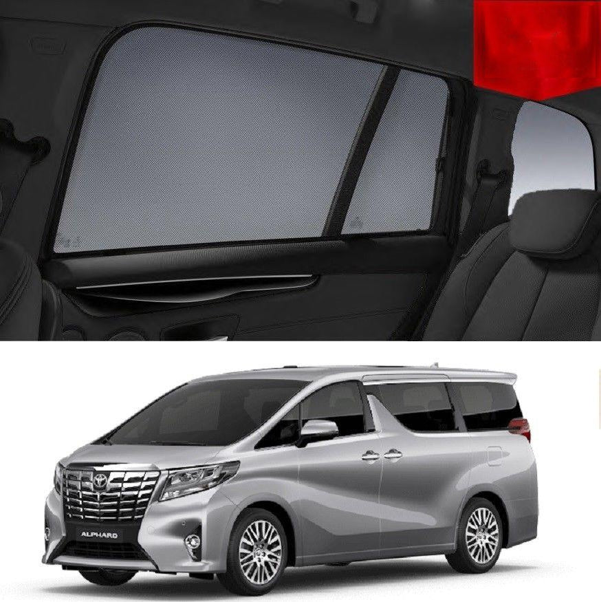 Magnetic Rear Side Car Window Shades For TOYOTA ALPHARD 2015-2019