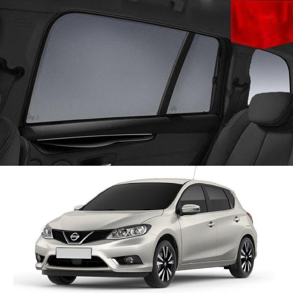 Nissan Pulsar Hatchback 2014-2019 C13  Car Shades | Snap On Magnetic Sun Shades Window Blind
