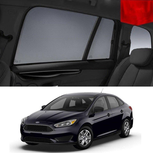 FORD Focus Sedan 2014-2018 LZ   Car Shades | Snap On Magnetic Sun Shades Window Blind