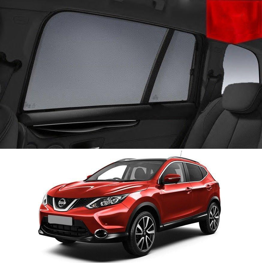 For Nissan QASHQAI J11 2014-2020 Magnetic Rear Side Car Window Sun Blind Sun Shade