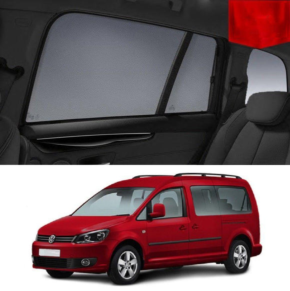 Volkswagen Caddy Wagon 2013 - 2017   Car Shades | Snap On Magnetic Sun Shades Window Blind