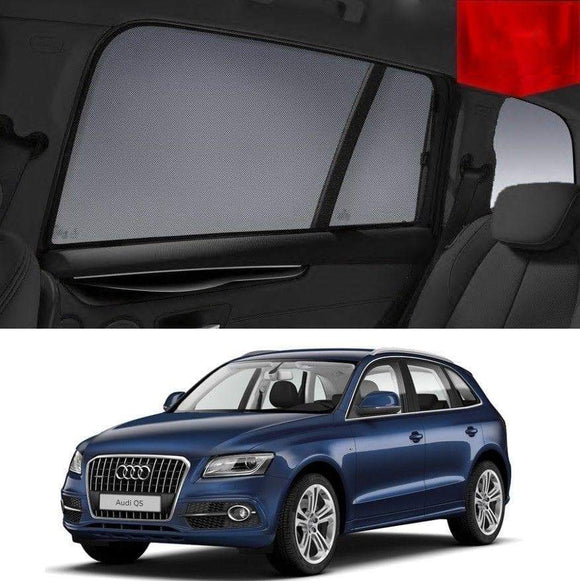 AUDI Q5 2012-2016 8R  Car Shades | Snap On Magnetic Sun Shades Window Blind