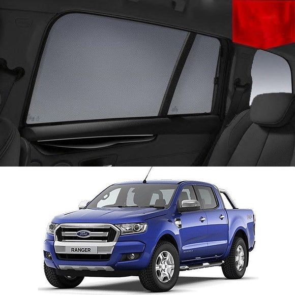 FORD Ranger 2015-2020 Car Shades | Snap On Magnetic Sun Shades Window Blind