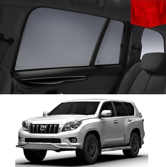 TOYOTA Landcruiser PRADO J150 2009-2012 Car Shades | Snap On Magnetic Sun Shades Window Blind