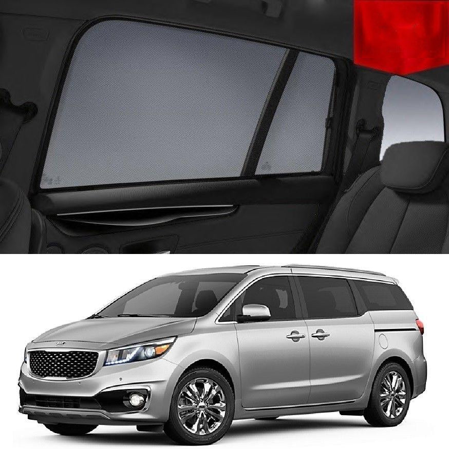 For KIA CARNIVAL 2015-2020 YP Magnetic Rear Side Car Window Sun Blind Sun Shade Mesh