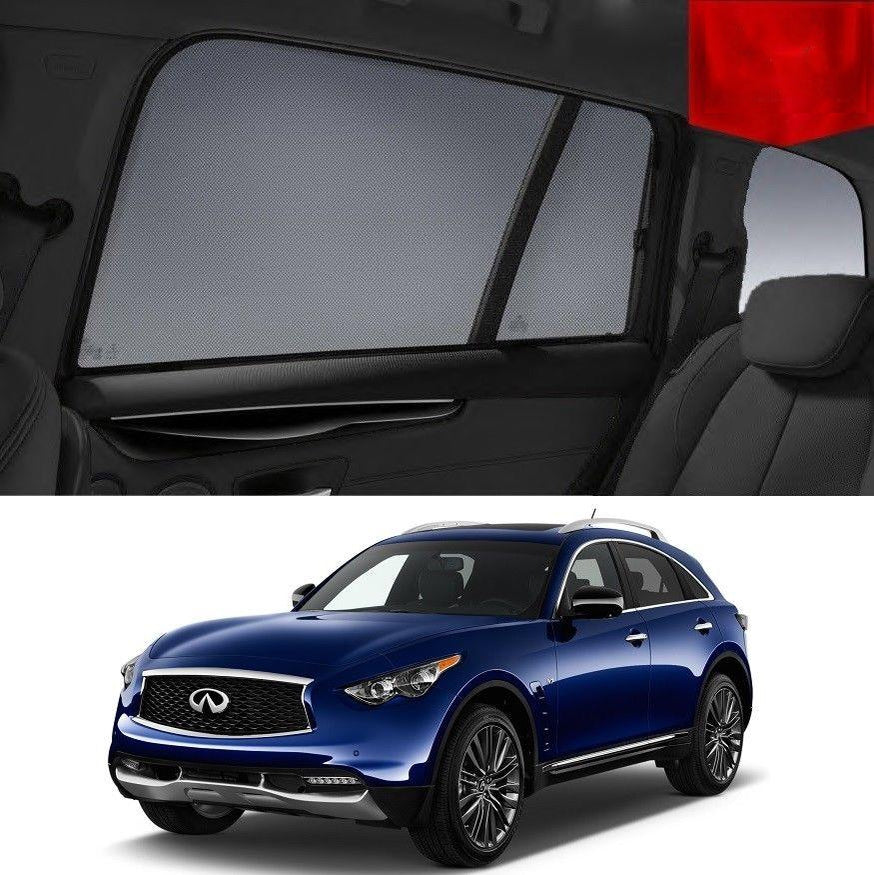 For INFINITI QX70 2014 - 2018 Rear Side Car Window Sun Blind Sun Shade For baby Mesh