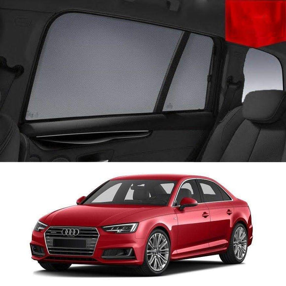 AUDI A4 2015-2019 B9  Car Shades | Snap On Magnetic Sun Shades Window Blind