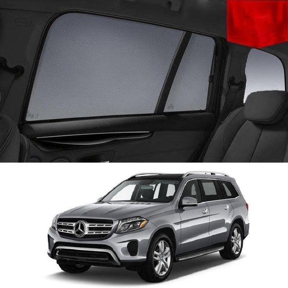 MERCEDES-BENZ GL-Class 2012-2018 X166   Car Shades | Snap On Magnetic Sun Shades Window Blind