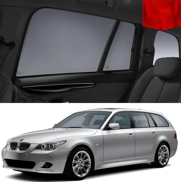 BMW 5 Series 2005-2009 E61  Car Shades | Snap On Magnetic Sun Shades Window Blind
