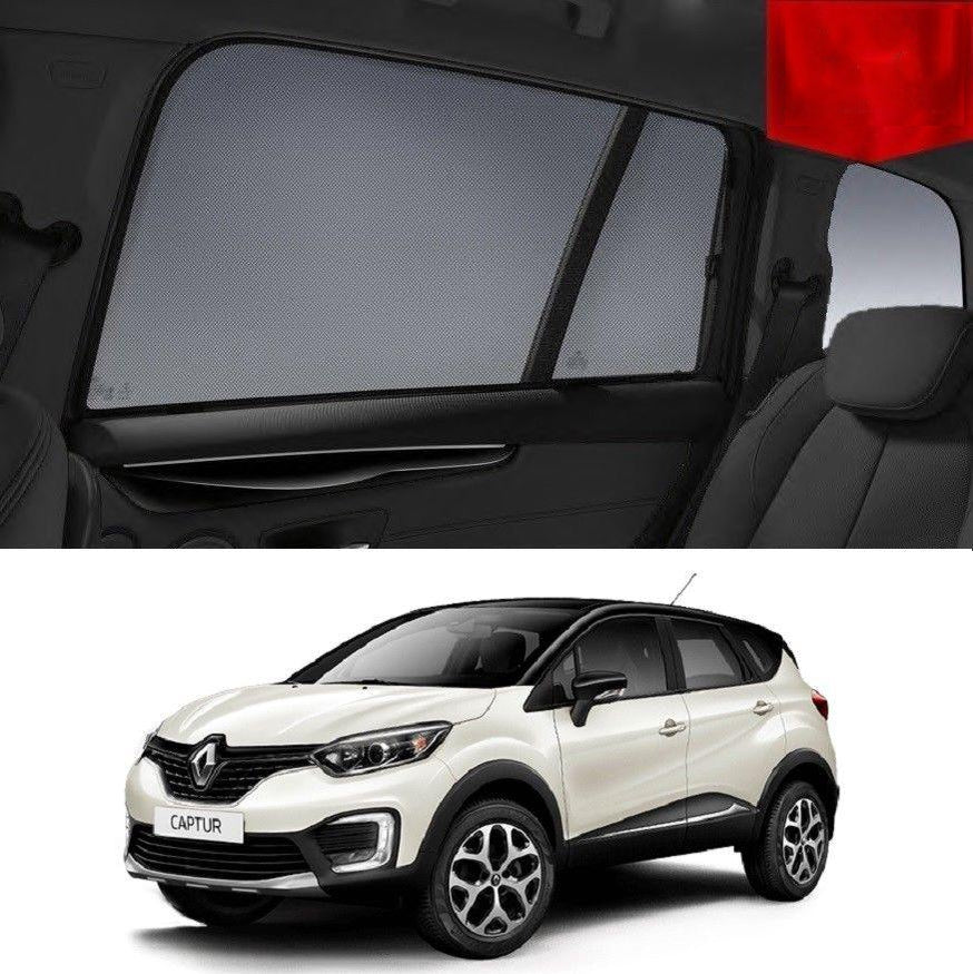 For Renault Captur 2014-2019 Magnetic Rear Side Car Window Sun Blind Sun Shade Mesh