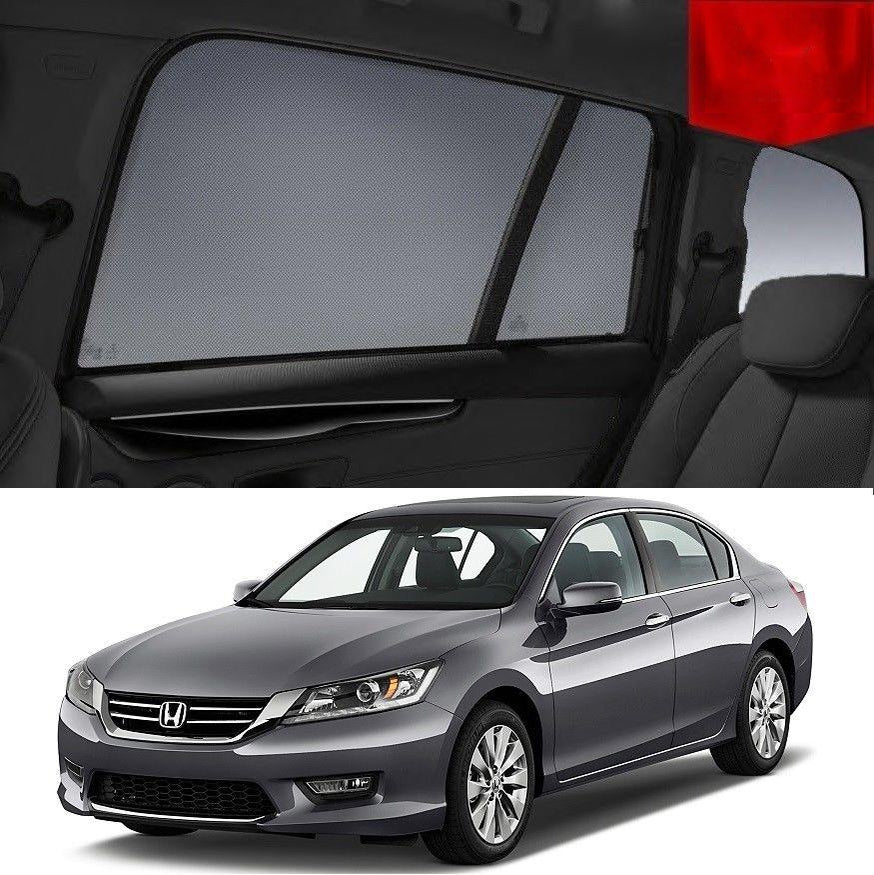 For HONDA Accord 9th Gen 2013-2017 Magnetic Rear Car Window Sun Blind Sun Shade Mesh