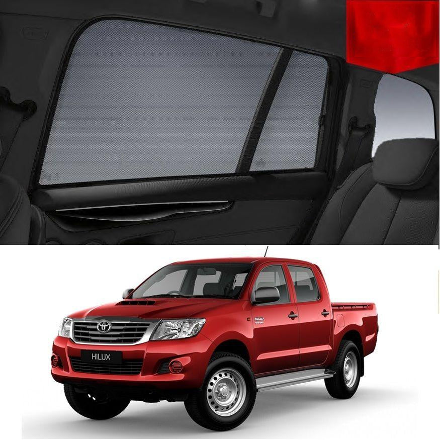 For TOYOTA HILUX Double Cab 2011-2015 Rear Car Window Sun Blind