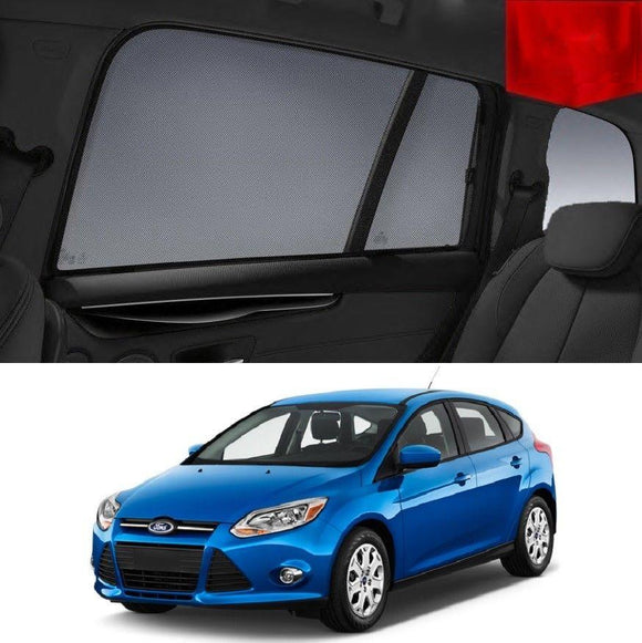 FORD Focus Hatchback 2010-2015 LW   Car Shades | Snap On Magnetic Sun Shades Window Blind