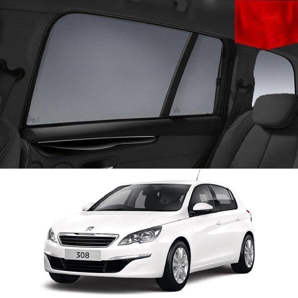 PEUGEOT 308 2013-2019 T9 Hatchback   Car Shades | Snap On Magnetic Sun Shades Window Blind