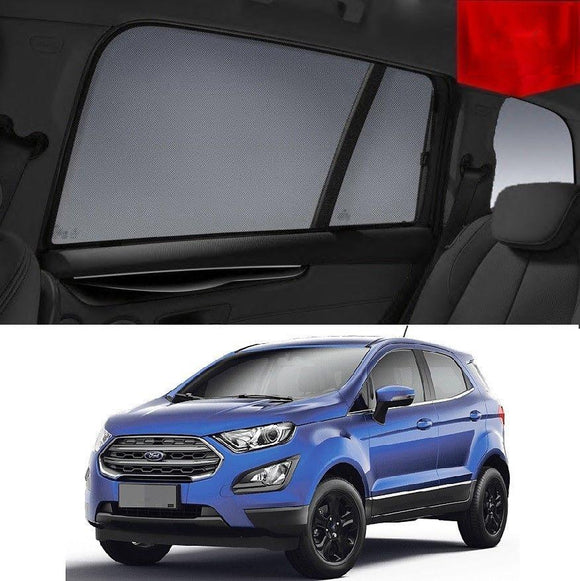 FORD EcoSport 2013-2019 BK   Car Shades | Snap On Magnetic Sun Shades Window Blind