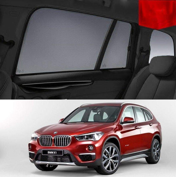 BMW X1 2015-2020 F48 Car Shades | Snap On Magnetic Sun Shades Window Blind