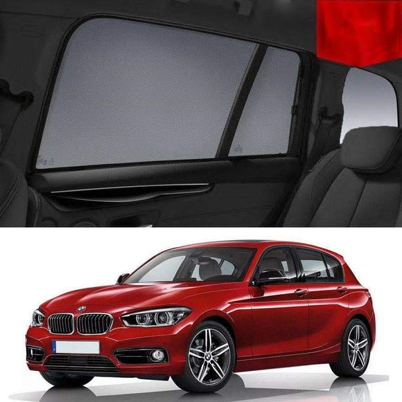 BMW 1 Series 2015-2019 F20 LCI Car Shades | Snap On Magnetic Sun Shades Window Blind
