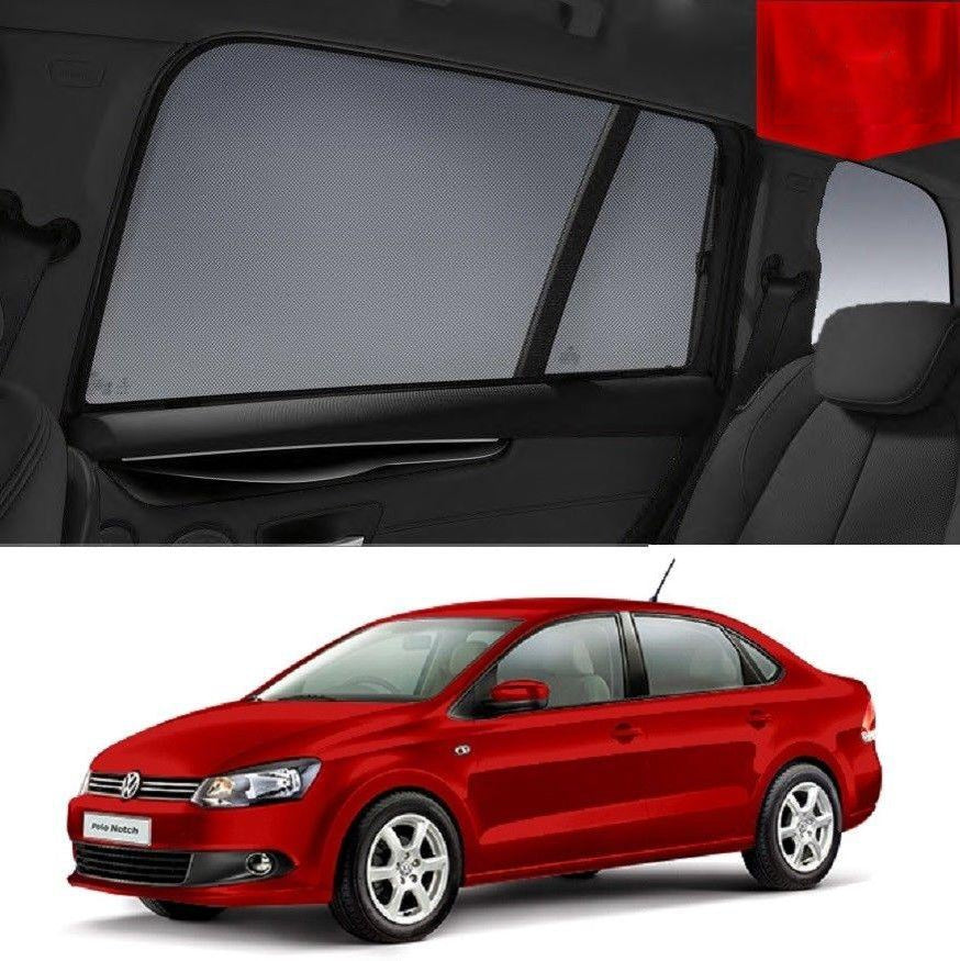 For Volkswagen POLO Sedan 2009- 2017 Magnetic Car Window Sun Blind Sun Shade Mesh