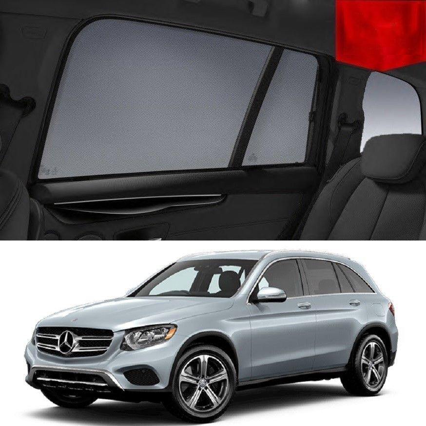 For MERCEDES-BENZ GLC SUV 2015-2020 Rear Side Car Window Sun Blind Sun Shade Mesh