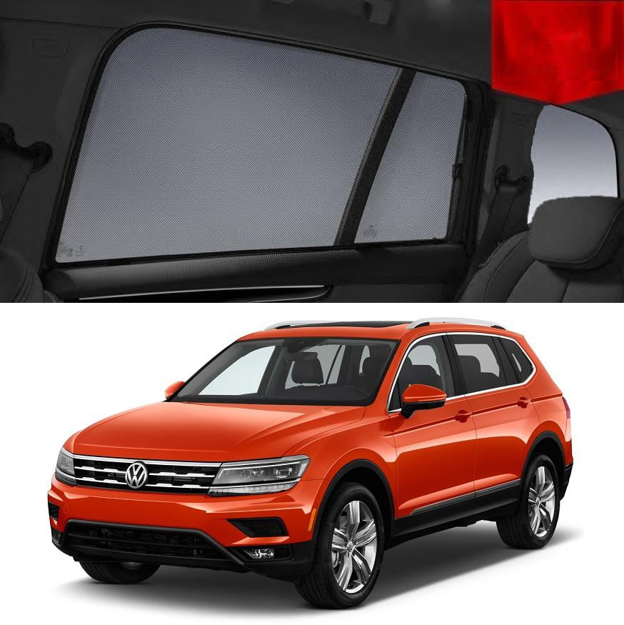 For Volkswagen 2016-2020 Tiguan Allspace Magnetic Rear Car Window Sun Blind Sun Shade Mesh
