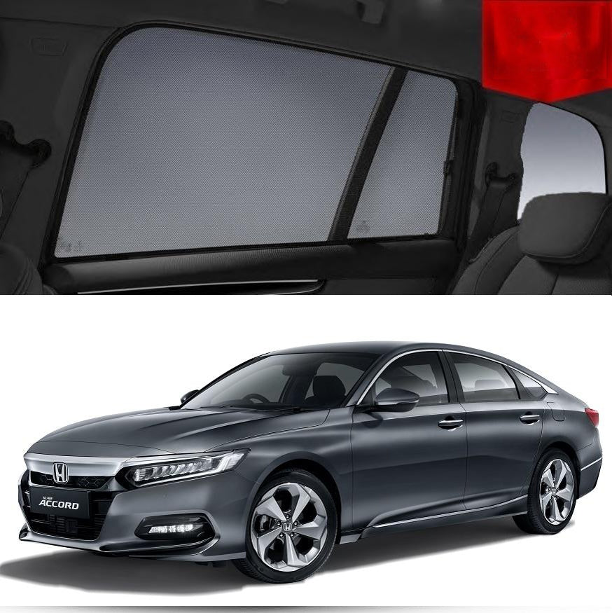 For HONDA Accord 10th Gen 2018-2020 Magnetic Rear Car Window Sun Blind Shade Mesh
