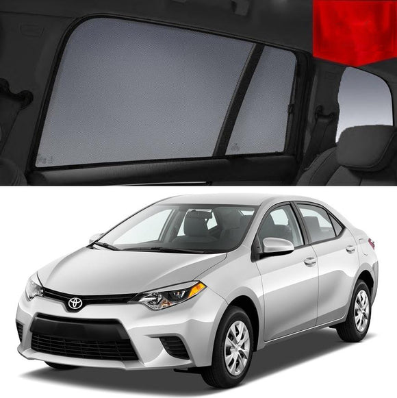 TOYOTA Corolla 2013-2018 Sedan  Car Shades | Snap On Magnetic Sun Shades Window Blind