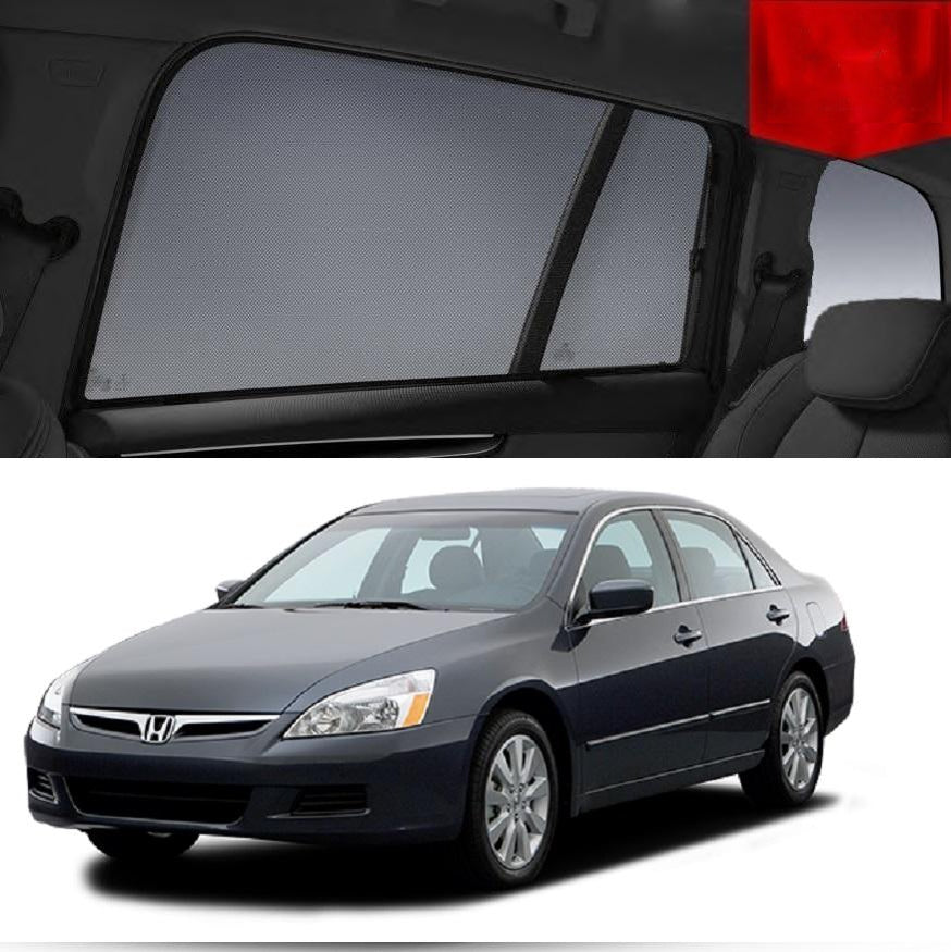 For HONDA Accord 7th Gen 2002-2008 Magnetic Rear Car Window Sun Blind Sun Shade Mesh