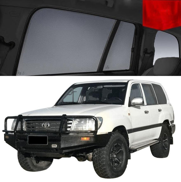 TOYOTA Landcruiser 1998-2007 100 series   Car Shades | Snap On Magnetic Sun Shades Window Blind