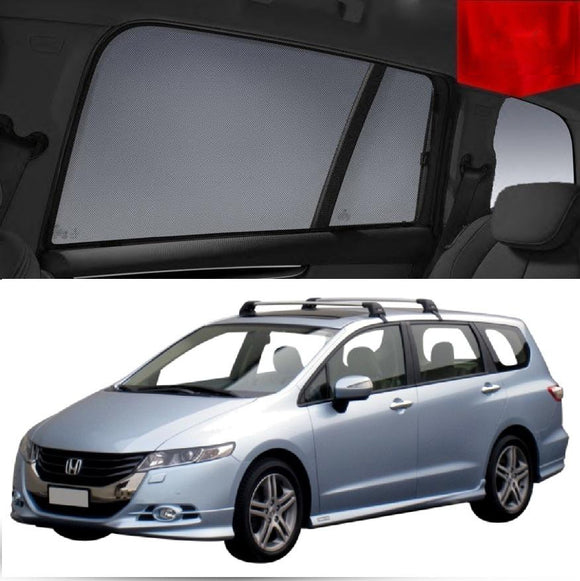 For HONDA Odyssey 2008-2013 4th Gen Magnetic Rear Window Sun Blind Sun Shade Mesh