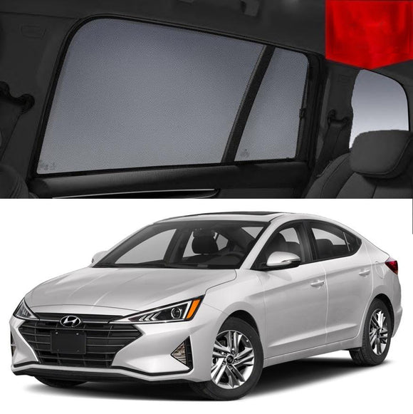 Hyundai Elantra 2015-2020 AD   Car Shades | Snap On Magnetic Sun Shades Window Blind
