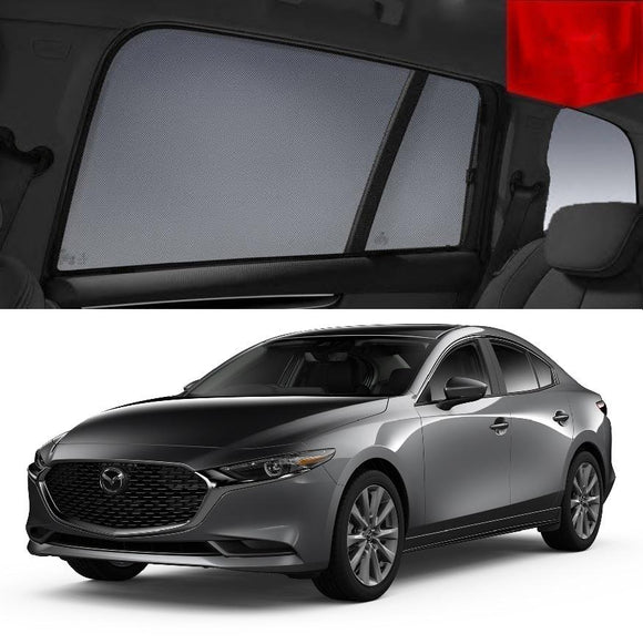 For Mazda 3 Sedan 2018-2020 BP Magnetic Rear Car Window Sun Blind Sun Shade Mesh