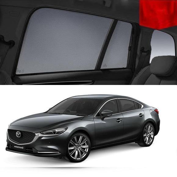 For Mazda 6 Sedan 2018-2020 Magnetic Rear Side Car Window Sun Blind Sun Shade Mesh