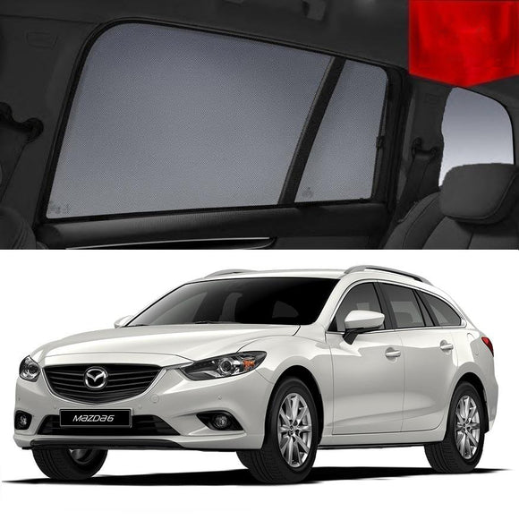 For Mazda 6 Wagon 2013-2018 Magnetic Rear Side Car Window Sun Blind Sun Shade Mesh