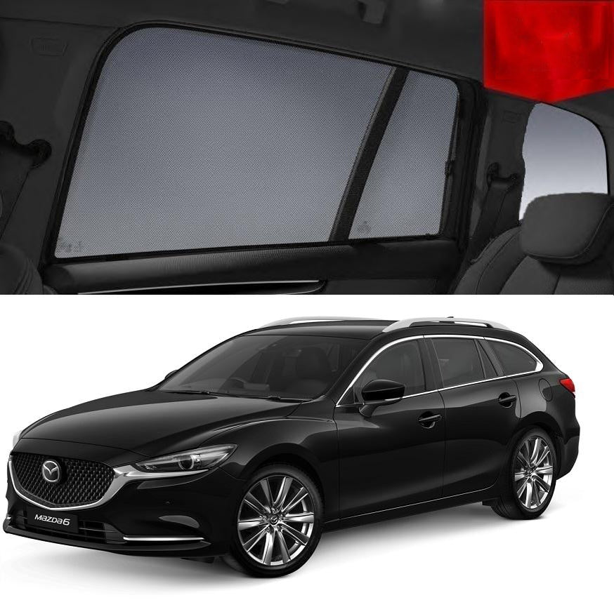 For Mazda 6 Wagon 2018-2020 Magnetic Rear Side Car Window Sun Blind Sun Shade Mesh