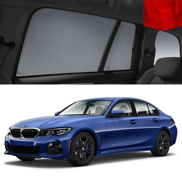 BMW 3 Series 2019-2020 G20 Car Shades | Snap On Magnetic Sun Shades Window Blind