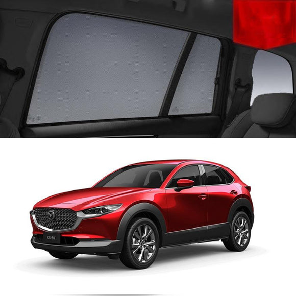 For Mazda CX-30 DM 2019-2020 Magnetic Rear Side Car Window Sun Blind Sun Shade Mesh