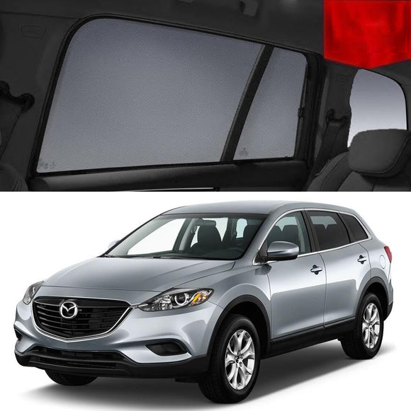 For Mazda CX-9 TB 2007-2015 Magnetic Rear Side Car Window Sun Blind Sun Shade Mesh