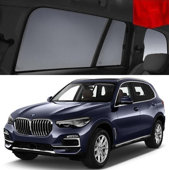 BMW X5 G05 2019-2020  Car Shades | Snap On Magnetic Sun Shades Window Blind