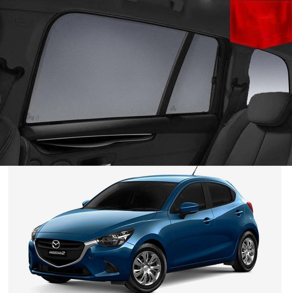 Mazda 2 Hatchback DJ 2014-2018 Magnetic Rear Car Window Sun Blind Sun Shade Mesh