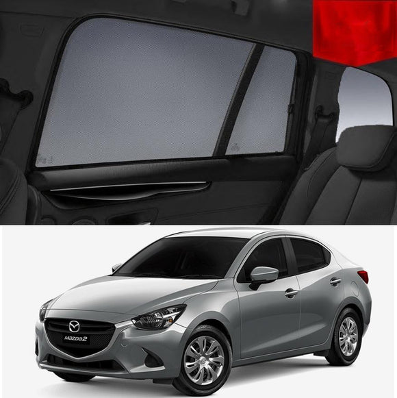 Mazda 2 Sedan DL 2014-2018 Magnetic Rear Car Window Sun Blind Sun Shade Mesh